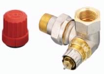 """Клапан терморегулирующий радиаторный, Danfoss RA-N 013G0234 (013G7022), Ду15, 1/2"""", угловой трехосевой левый, никелированный (для двухтрубной системы)"""