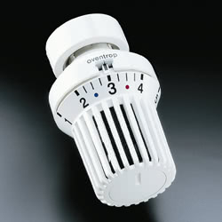 Термостатическая головка Oventrop Uni XH, артикул 1011365, белая, 7-28 С, с нулевой отметкой