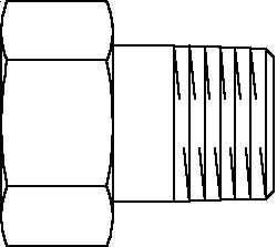 """Резьбовое соединение Oventrop R1/2"""" (внутренняя резьба с накидной гайкой 3/4""""), артикул 1019304"""