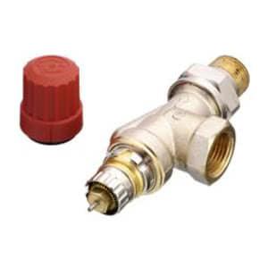 Клапан терморегулирующий радиаторный, Danfoss RA-N UK, Ду15,  угловой, версия UK, никелированный, 013G0153 (013G7048)