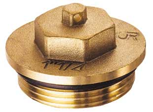 "Латунная заглушка FAR (НР) из DZR-латуни, с уплотнением FK 4149 2, размер 2"""