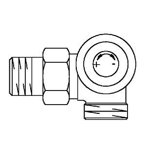 """Вентиль (термостатический клапан) Oventrop AV6 с преднастройкой угловой трехосевой Ду15 3/4""""х1/2"""", артикул 1183497 (правое присоединение)"""