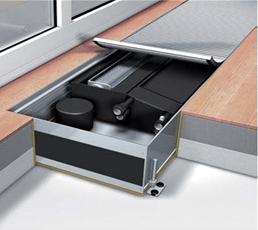 Конвектор встраиваемый в пол с вентилятором Мohlenhoff QSK EC HK 2L 360-140-1000