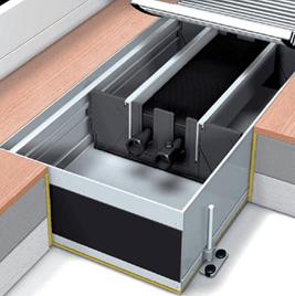 Конвектор встраиваемый в пол с естественной конвекцией Mohlenhoff WSK 410-110-2750