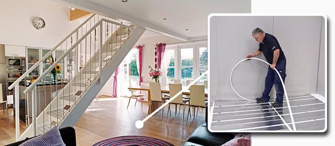 Напольное отопление – это невидимая система отопления от UPONOR