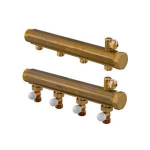"Uponor коллектор H 4 контура 1 1/2"" ц/ц 100мм, клапаны на возврате, 1059517"