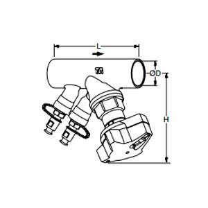 Tour & Andersson Балансировочный клапан STAD-C, без дренажа, DN25, соединение под пайку, PN20, AMETAL, 52153025