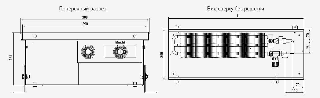 чертеж и габаритные размеры PCN125