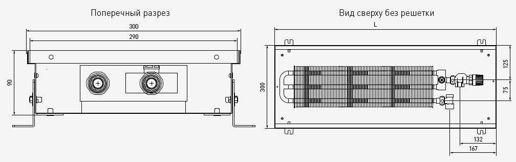 чертеж и габаритные размеры PCN90