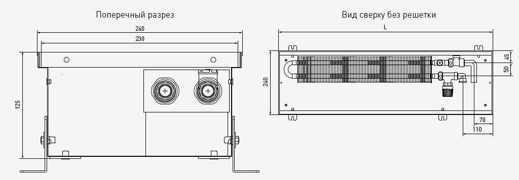 чертеж и габаритные размеры PCS125
