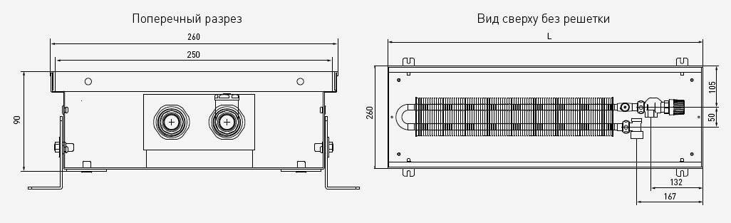 чертеж и габаритные размеры PCS90
