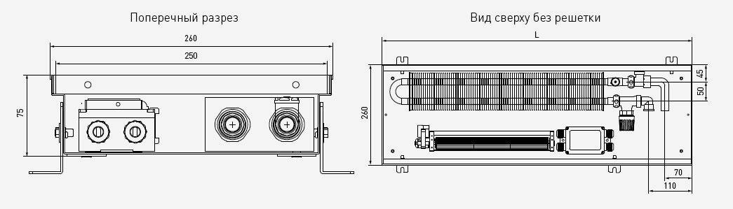 чертеж и габаритные размеры PCVS75