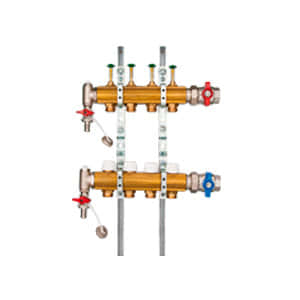 Коллектор HUMMEL для напольного отопления G 1 по EN 1264-4 (горизонтальное подключение) 2205000600