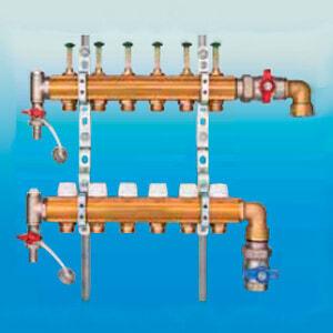 Коллектор HUMMEL для напольного отопления G 1 по EN 1264-4 (вертикальное подключение) 2205018100