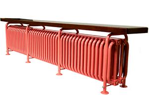 Стальной трубчатый радиатор-скамейка Завалинка РС Э 4-300-20, 600 Вт