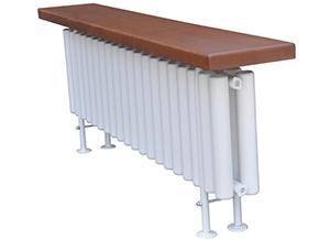 Стальной трубчатый радиатор-скамейка Завалинка Гармония 2-300-20