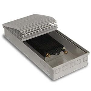 Внутрипольный конвектор PrimoClima PCM125-2000 без вентилятора, решетка из алюминия анодированного в натуральный цвет