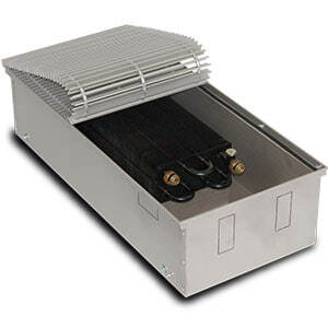 Внутрипольный конвектор PrimoClima PCM200-2500 без вентилятора, решетка из алюминия анодированного в натуральный цвет