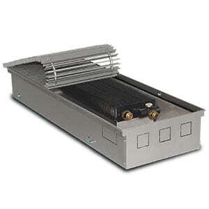 Внутрипольный конвектор PrimoClima PCN125-2000 без вентилятора, решетка из алюминия анодированного в натуральный цвет