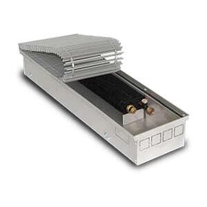 Внутрипольный конвектор PrimoClima PCS125-700 без вентилятора, решетка из алюминия анодированного в натуральный цвет