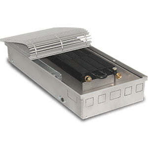 Внутрипольный конвектор PrimoClima PCVM125-1000 с вентилятором, решетка из алюминия анодированного в натуральный цвет