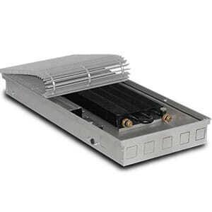 Внутрипольный конвектор PrimoClima PCVM90-1000 с вентилятором, решетка из алюминия анодированного в натуральный цвет