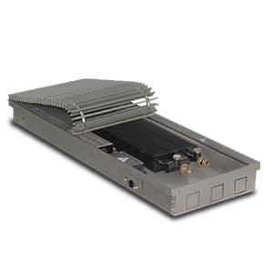 Внутрипольный конвектор PrimoClima PCVN75-2000 с вентилятором, решетка из алюминия анодированного в натуральный цвет