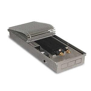 Внутрипольный конвектор PrimoClima PCVN90-2750 с вентилятором, решетка из алюминия анодированного в натуральный цвет