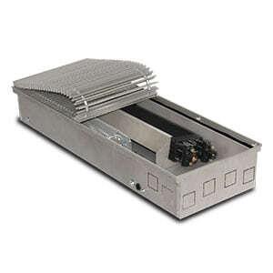 Внутрипольный конвектор PrimoClima PCVNE125-3000 с вентилятором, решетка из алюминия анодированного в натуральный цвет
