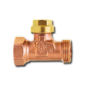 """Heimeier Отсечной вентиль, DN15(1/2""""), для подключения к наружной резьбе Rp 1/2"""", бронза, 0402-02.000"""