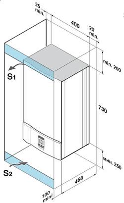 Настенный газовый котел De Dietrich MS 24 BIC FF