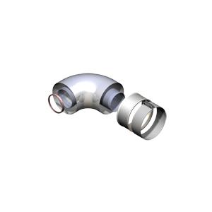 Groppalli колено коаксиальное 90°, Ø60/100мм, арт: A03.001.001192/A03.001.000276