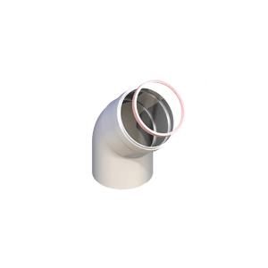 Groppalli колено 45° мама-папа Ø80мм, 10 шт., арт: А03.011.000174