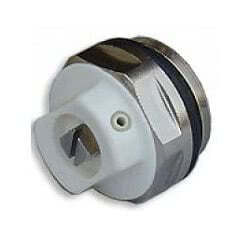 """Воздуховыпускной клапан Carlo Poletti 1/2"""" с кольцом O'RING, никелированный/белый, арт. V05104Q"""