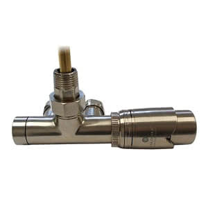 Комплект термостатический SCHLOSSER Duo-plex с погружающей трубкой 3/4 х М22х1,5 сталь (угловой, правый), арт. 602100067
