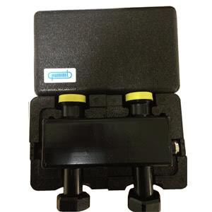 Гидрострелка Hummel горизонтальная, черная сталь, в изоляционном боксе, межосевое расстояние 125 мм 2206150010