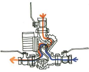 Вторая фаза включения термосмесительного узла Laddomat 21