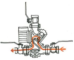Третья фаза включения термосмесительного узла Laddomat 21