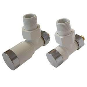Комплект клапанов ручной регулировки SCHLOSSER Elegant для пластиковых труб GZ 1/2 х 16х2 белый-хром (угловой), арт. 604200006