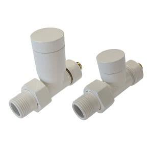 Комплект клапанов ручной регулировки SCHLOSSER Elegant для стальных труб GZ 1/2 х GW 1/2 белый (прямой), арт. 604200111