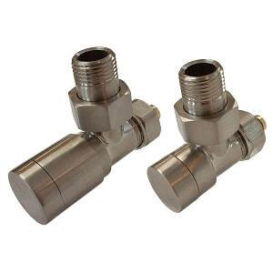 Комплект клапанов ручной регулировки SCHLOSSER Elegant для медных труб GZ 1/2 х 15х1 сталь (угловой), арт. 604200045