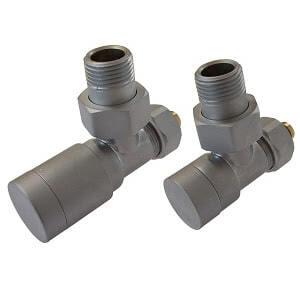Комплект клапанов ручной регулировки SCHLOSSER Elegant для медных труб GZ 1/2 х 15х1 сатин (угловой), арт. 604200047