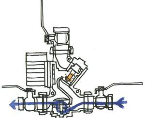 Четвёртая фаза включения термосмесительного узла Laddomat 21