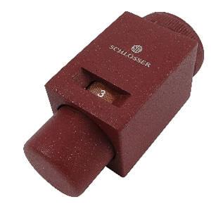 Термостатическая головка SCHLOSSER Square сатин M30x1,5, арт. 601100019