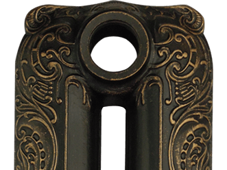Патинирование бронзой на черной основе RAL9005/PBR