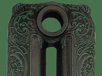Патинирование состаренной бронзой на черной основе RAL9005/PAB