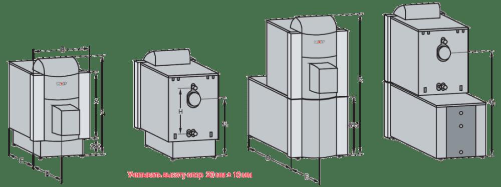 Напольный стальной котел Wolf CNK-40, без горелки