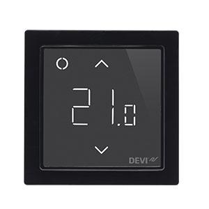 Терморегулятор DEVIreg™ Smart интеллектуальный с Wi-Fi, черный, 16А