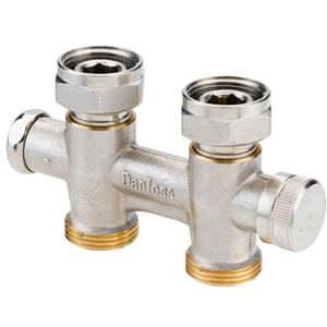 Клапан Danfoss RLV-KD прямой 3/4x3/4, артикул 003L0241, для нижнего подключения радиаторов