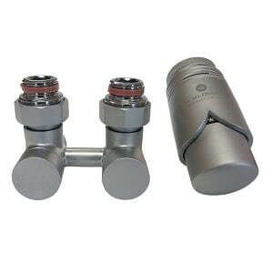 Комплект термостатический эксклюзивный SCHLOSSER 3/4 х M22х1,5 сатин (фигура прямая), арт. 601000029